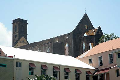 St George's Anglican church without her roof..
