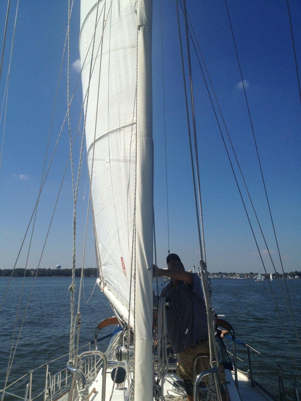 First sail on Anahata