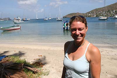 Lindsay Copland, a fellow Canadian, is using oral histories with fishermen to learn more about the state of Coral Reefs in the region