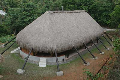 The Karbet, the largest hut in the Kalinago Barana Aute village, is used for celebration and ceremonies.
