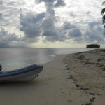 My dinghy ashore.